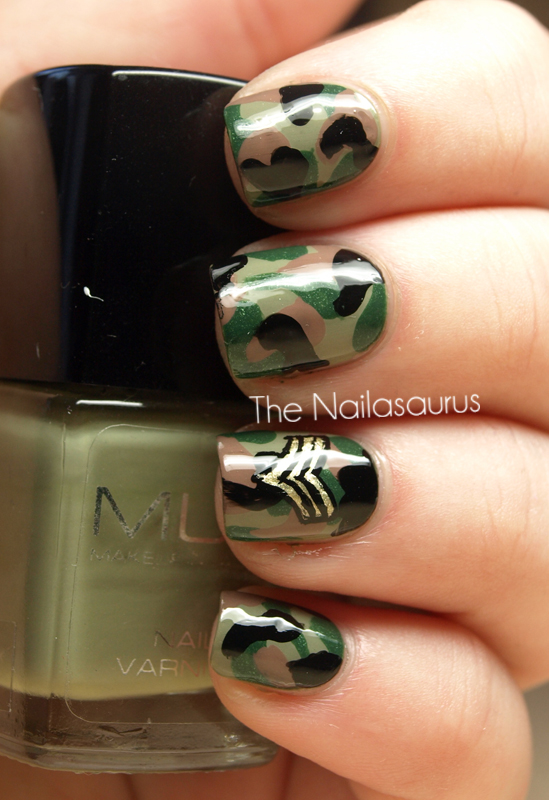 Камуфляжные ногти дизайн