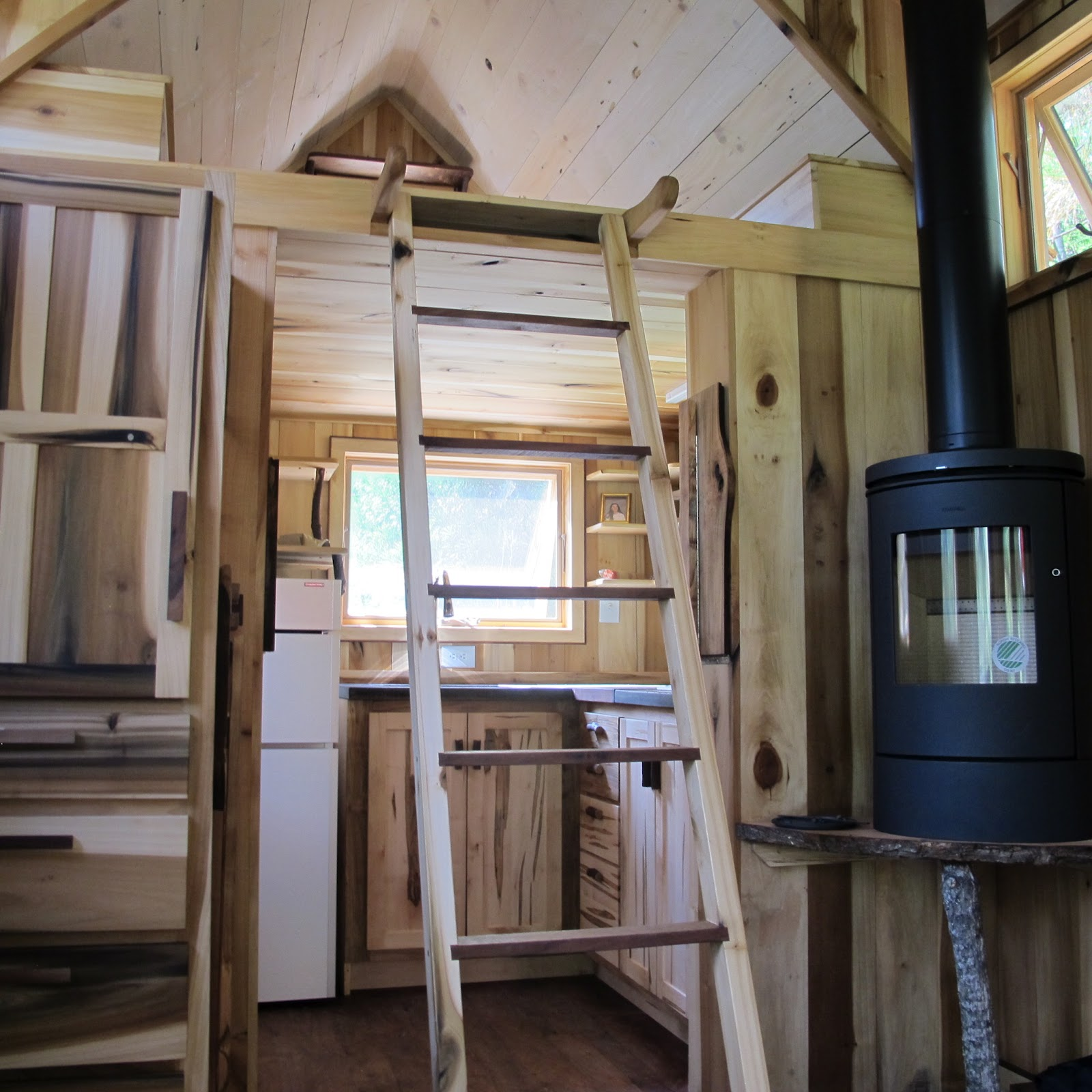 Owl creek happenings tumbleweed traveling - Tumbleweed tiny house interior ...