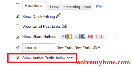 Add Author Bio Box/Widget In Blogger