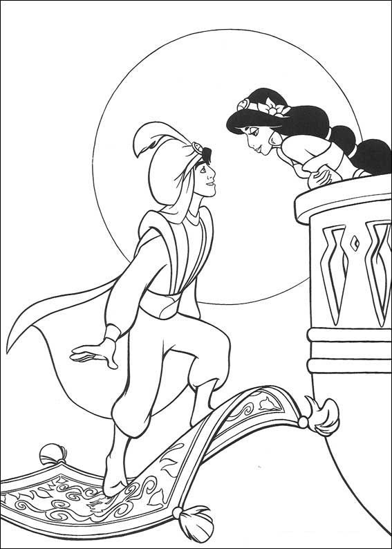 Aladdin and Jasmine Coloring Pages | Tops Wallpapers Gallery