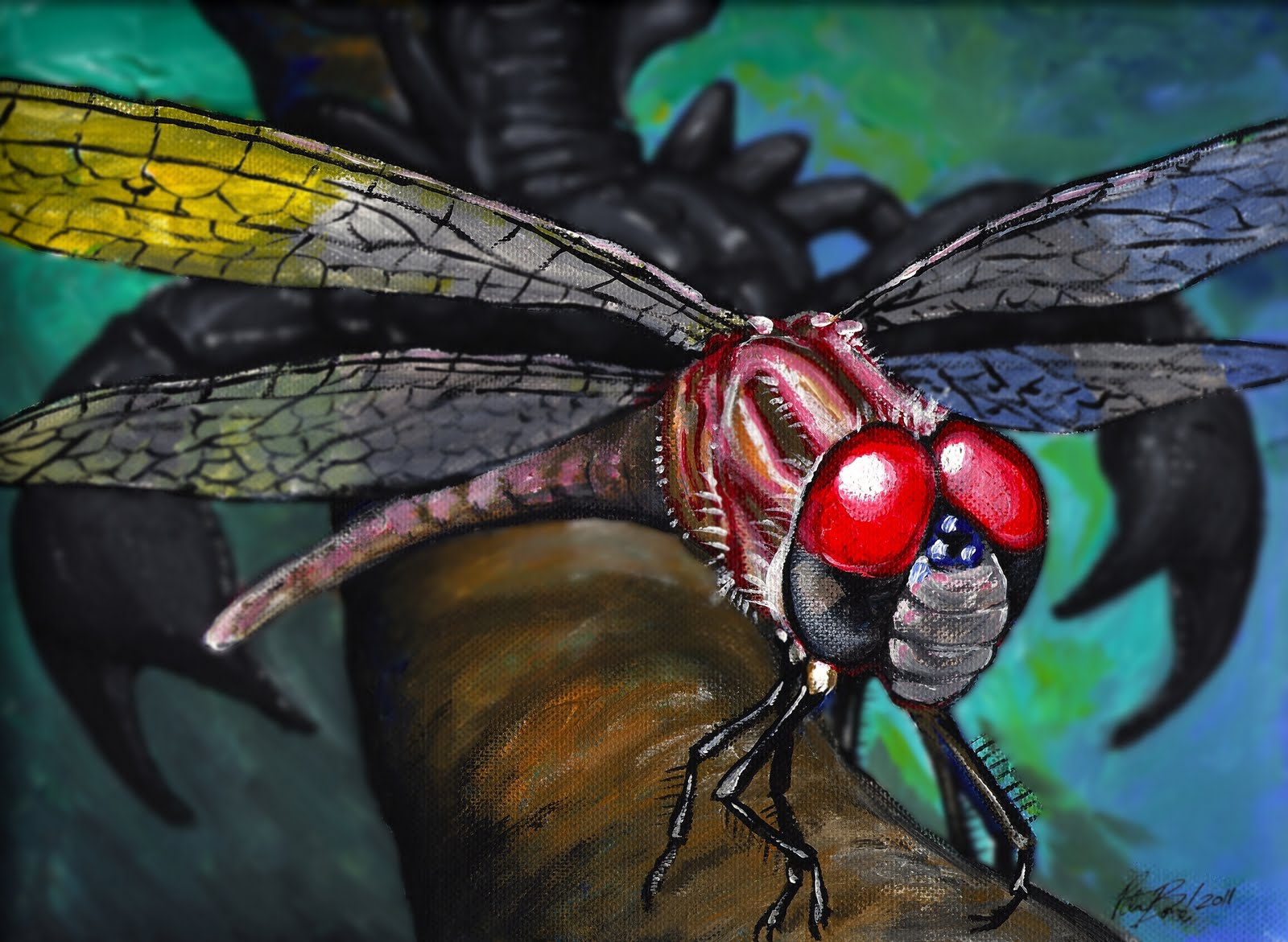 Giant dragonfly carboniferous