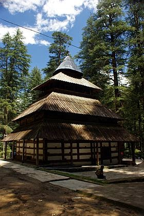 Hidimba temple at Manali, Himachal Pradesh