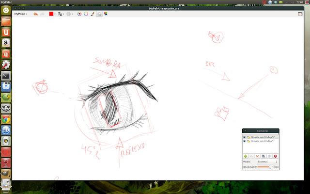 Primeiro estudo para o shader do olho