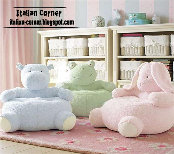 Animals Chairs For Kids Bedroom Furniture: