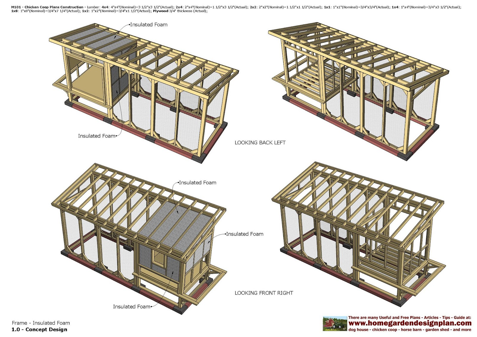 home garden plans m101 chicken coop plans construction