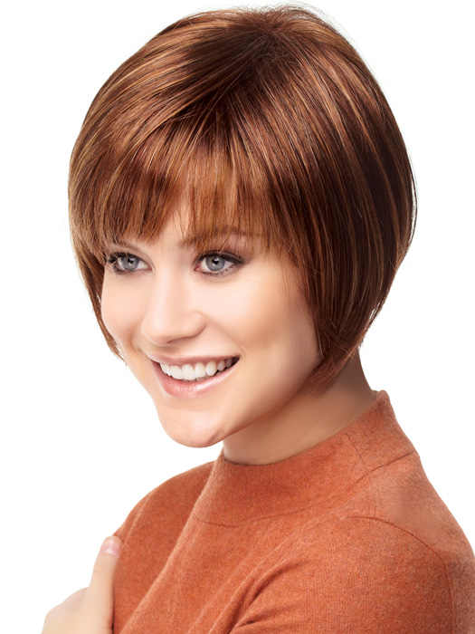 Hairstyle Simple Beautiful Bobs With Bangs Fringe