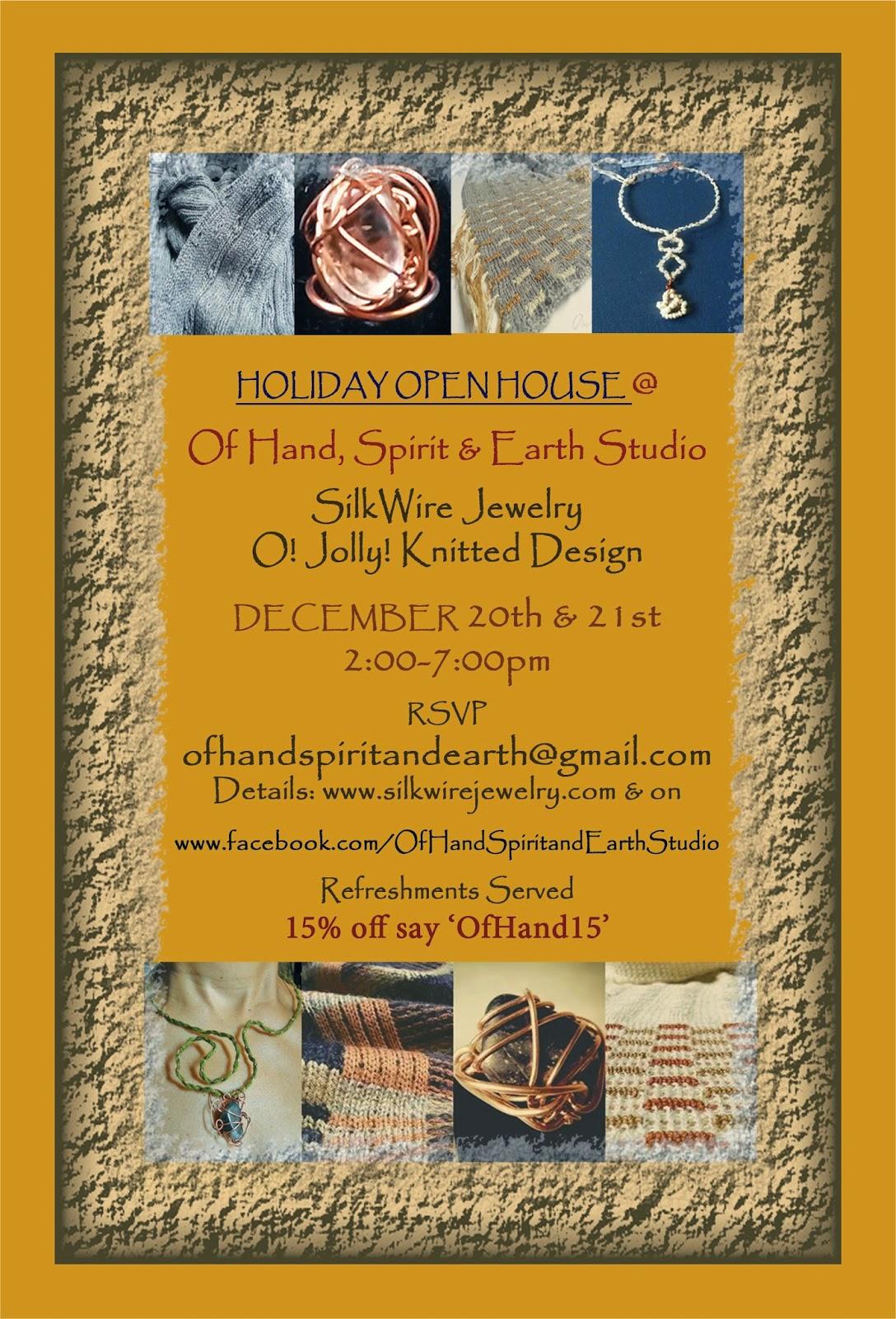Of Hand, Spirit & Earth Studio Holiday Open House