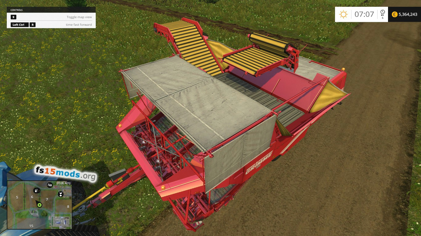 dees taters potato harvester usa map fs17