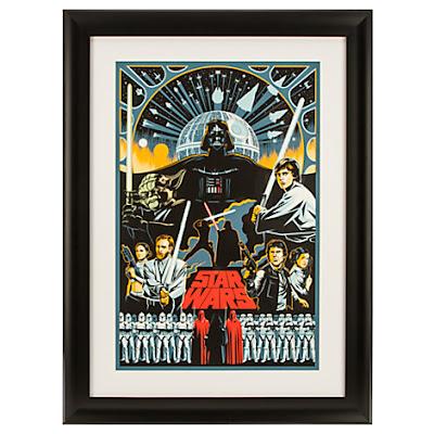 Star Wars Saga Screen Print by Eric Tan