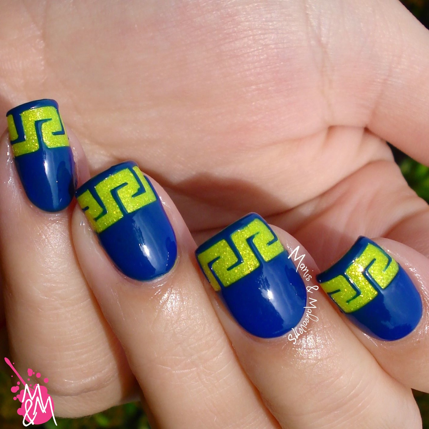 Manis & Makeovers: Neon Greek with Neverland Nail Vinyls pt. 3