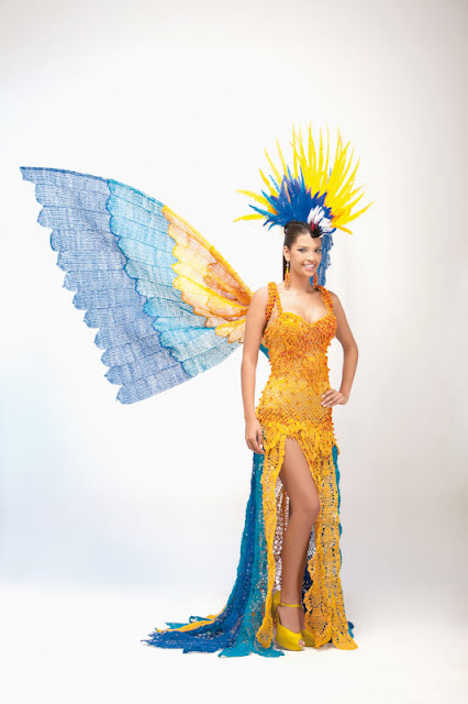 Srta. Colombia 2011-2012. Desfile en traje artesanal Tolima: Alexandra Herrera Avendaño