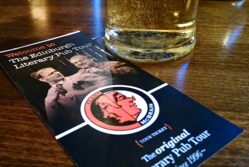 edinburgh literary pub tour ticket and cider