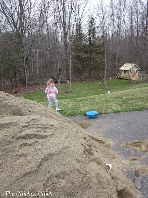 Annual sand delivery for chicken coops