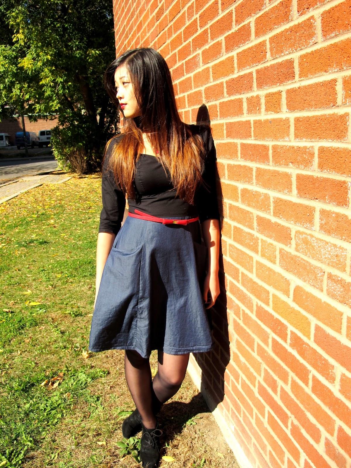 autumn sweetheart dress ootd