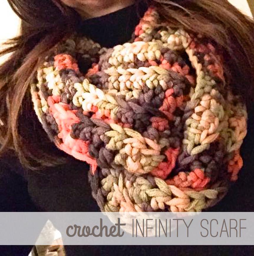 #crochet #scarf #infinity #beginner