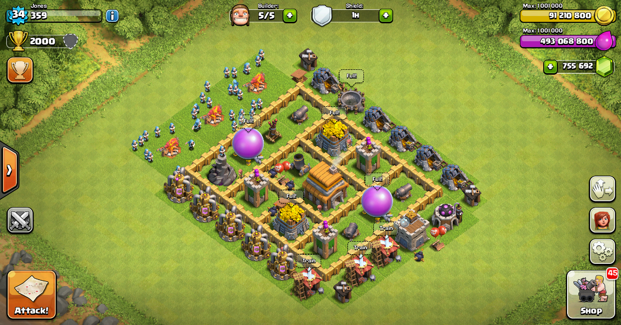 Itu dia design war base layout clash of clans town hall level 5