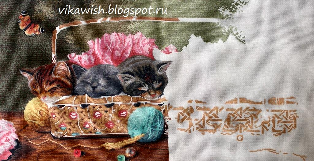 Вышивка дименшенс новорожденные котята