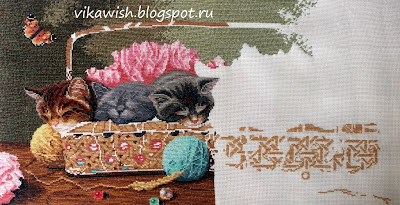 Вышивки dimensions котенок