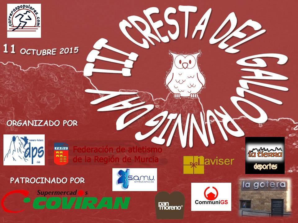 III CRESTA DEL GALLO RUNNING DAY 2015 (MARCHA Y CARRERA A PIE)