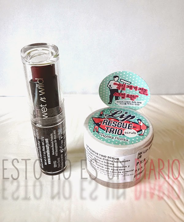 labial megalast lip color wet n wild, lip rescue trio holika holika