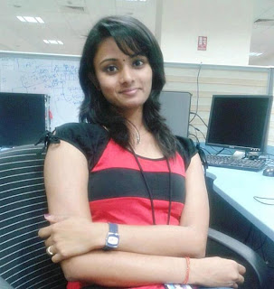 Tamil girl working as software engineer.