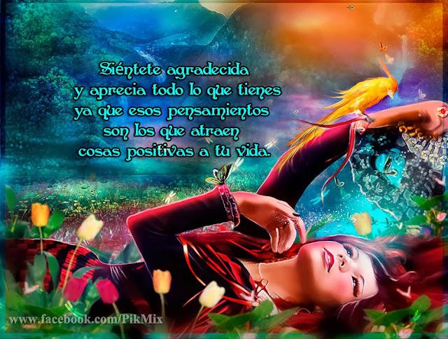Imagen de fantasía ~ Siéntete agradecida ~ Mujer entre flores