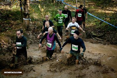 Wading through mud