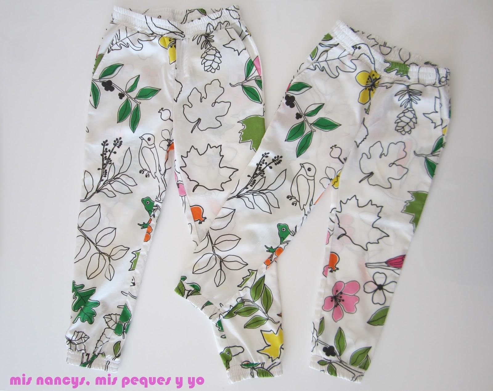 mis nancys, mis peques y yo, pantalón fluido para niñas, con tela de Ikea