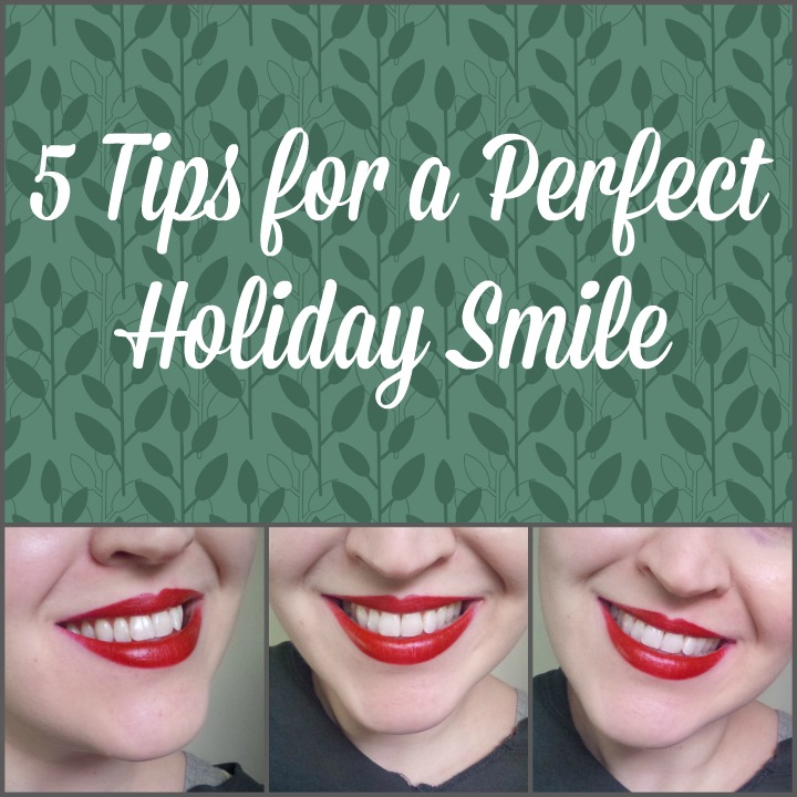 5 tips for a perfect holiday red lip/smile Crest 3D White Luxe Supreme FlexFit Whitestrips #CrestSupreme #CleverGirls