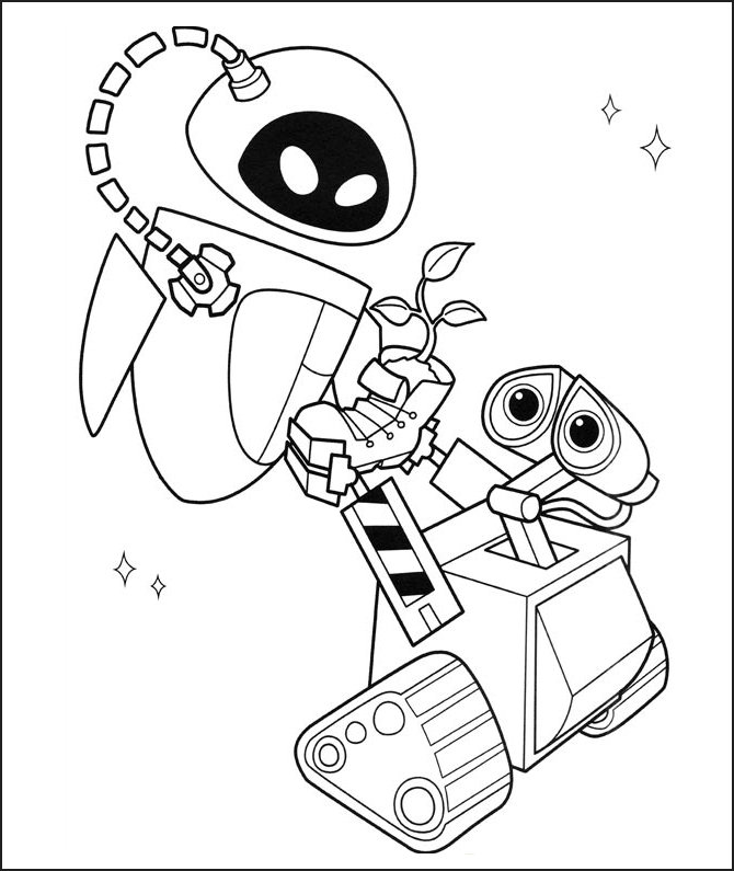 Disney Wall E Printable Coloring Shet