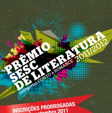 Prêmio SESC de Literatura edição 2011/2012 - até 31/09