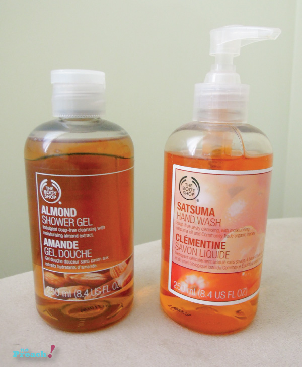 The Body Shop - hand wash and shower gel