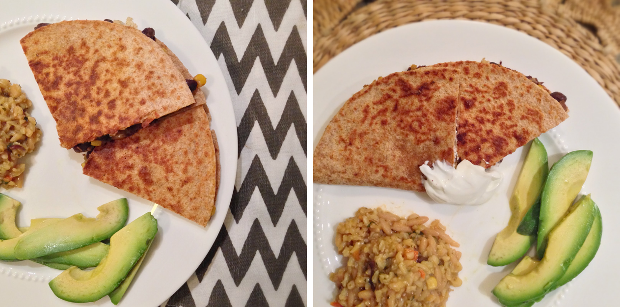 Black Bean and Goat Cheese Quesadillas (page 70)