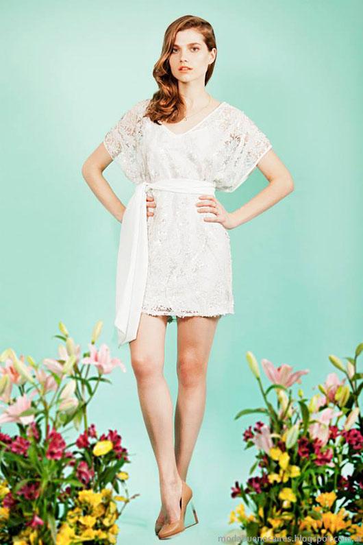 Moda primavera verano 2014 vestidos Paris by Flor Monis