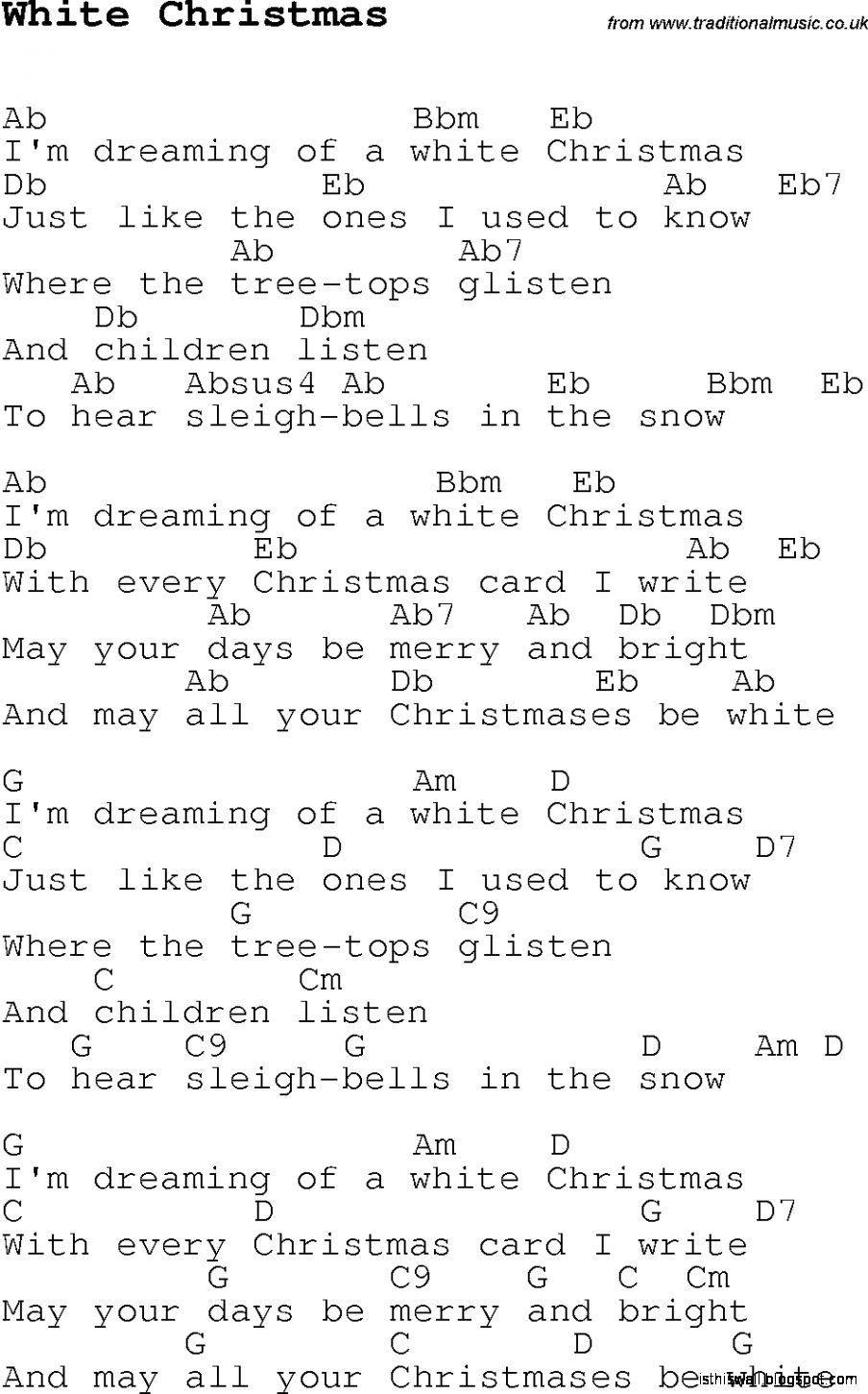 view original size - Who Wrote The Song White Christmas