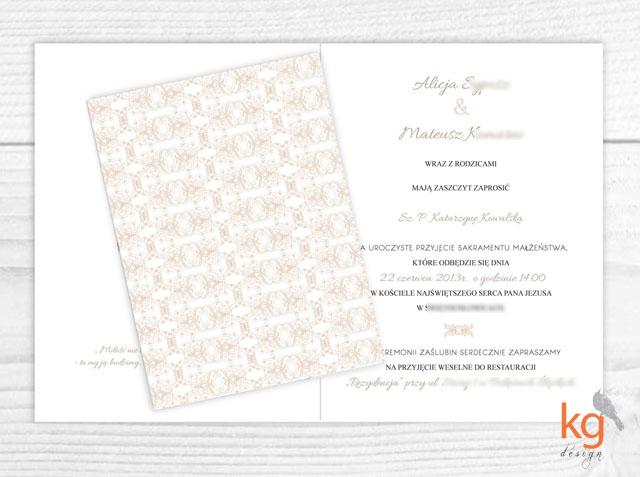 Proste, eleganckie, klasyczne, zaproszenia na ślub, wyjątkowe zaproszenie na ślub cywilny, zaproszenie na wesele, zawiadomienie, monogram, motyw przewodni, oryginalne zaproszenie ślubne