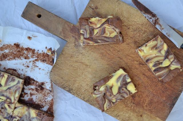 brownie au chocolat et au philadelphia