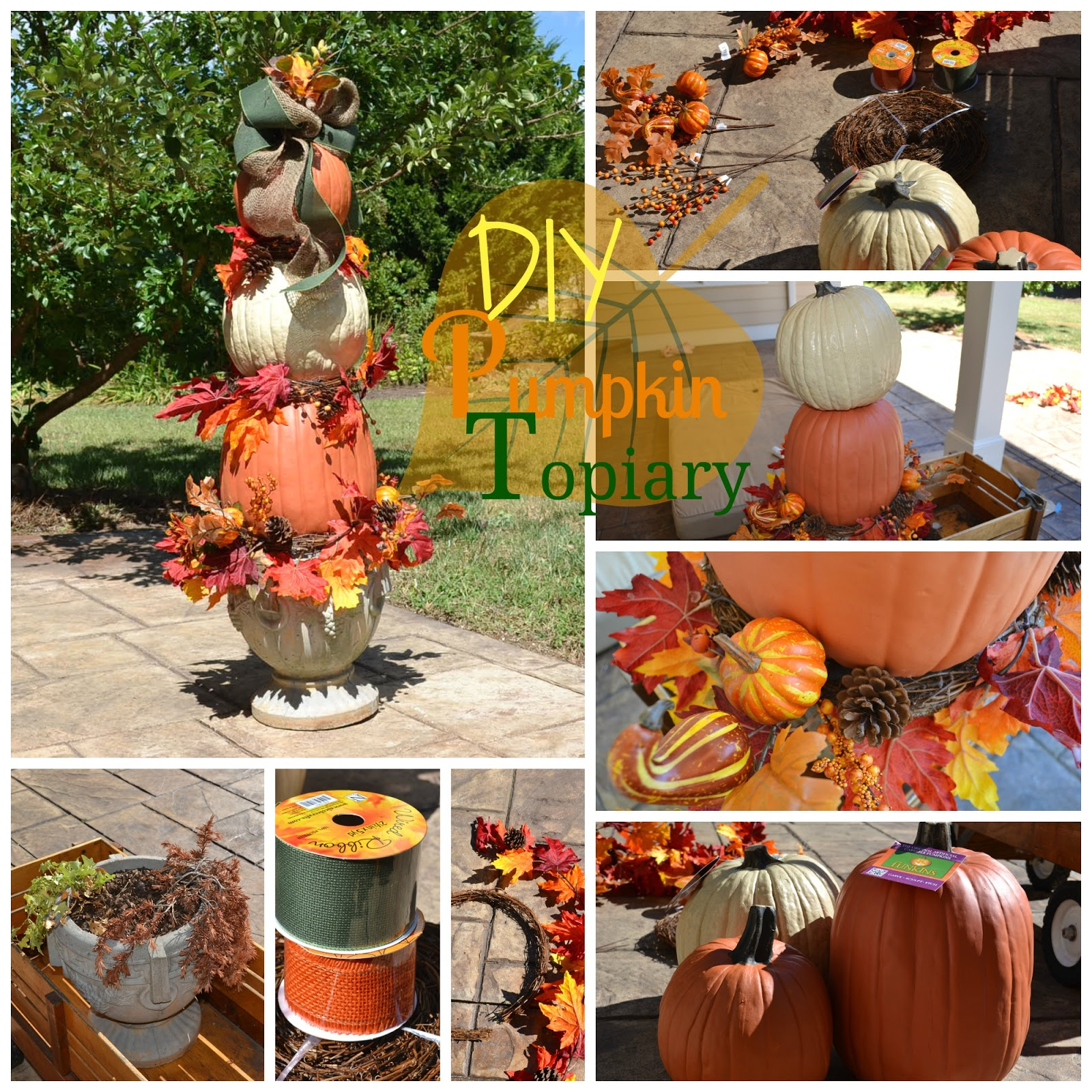 Easy DIY Pumpkin Topiary Tutorial Design Ideas