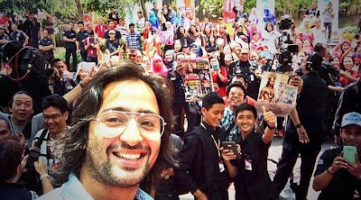 foto selfie pemeran arjuna di indonesia