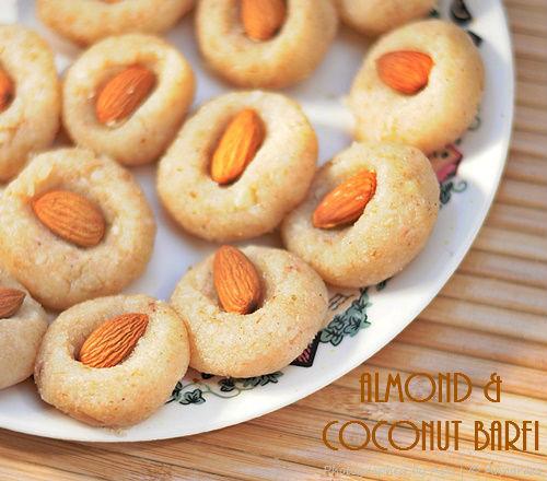 Badam aur Nariyal ki Barfi | Almond and Coconut Fudge