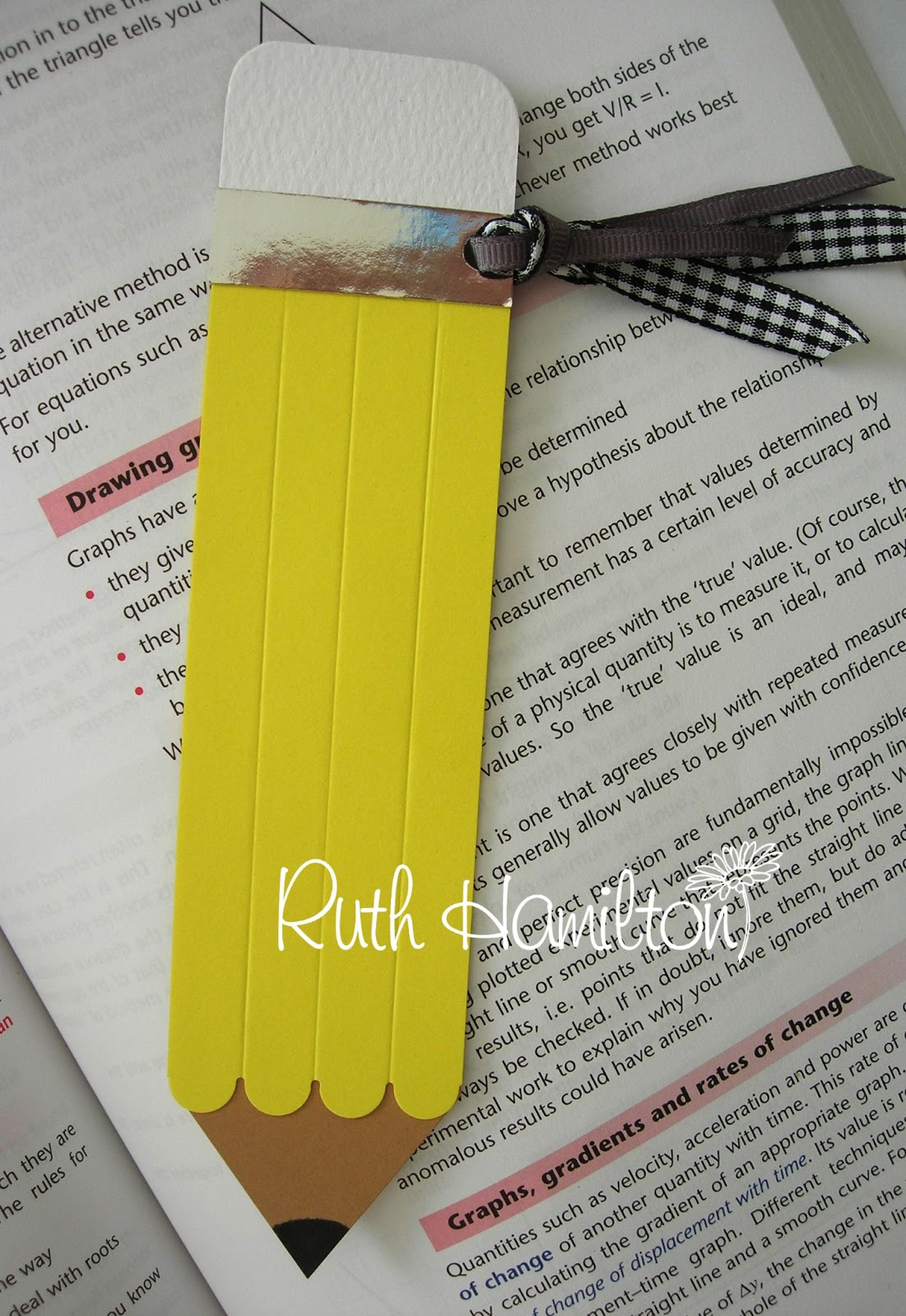 A Passion For Cards Pencil Bookmark