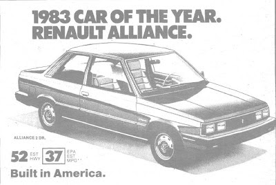 1983, Renault Alliance, Renault 9, Car of the year, Motor Trends, fuel consumption