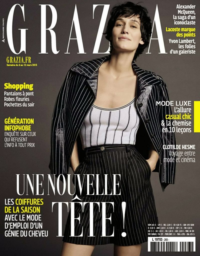 Actress @ Clotilde Hesme by Laurent Humbert for Grazia France March 2015
