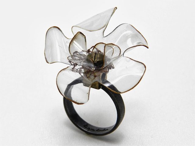 Big Flower Cocktail Ring by Ligia Rocha