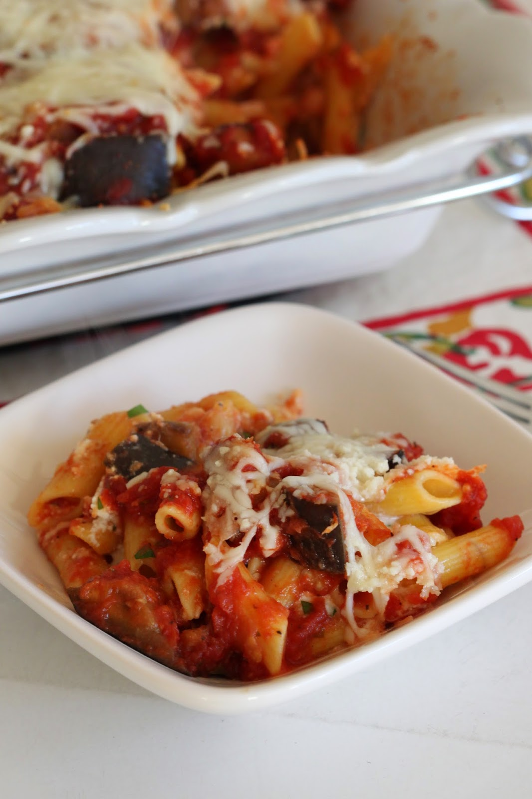 Cheesy Baked Penne with Eggplant | Tortillas and Honey