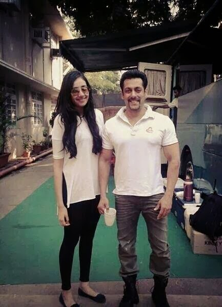 Salman Khan On The Set Of #Kick