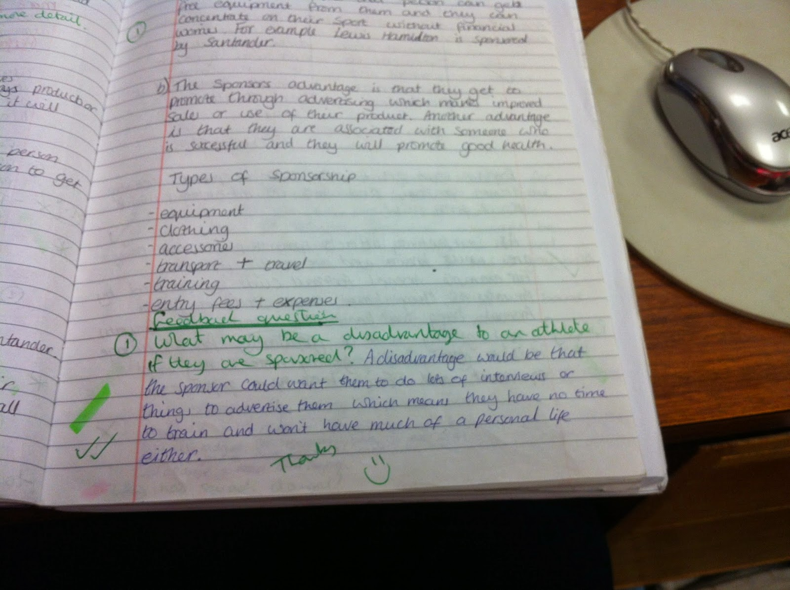 Can I be that little bit better at.....understanding why I might be getting differentiation wrong