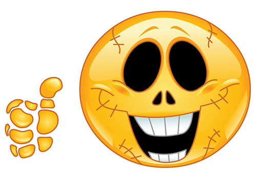 Smiley skeleton