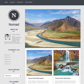 Nomad blogger template. clean template for blogger template. magazine style blogger template