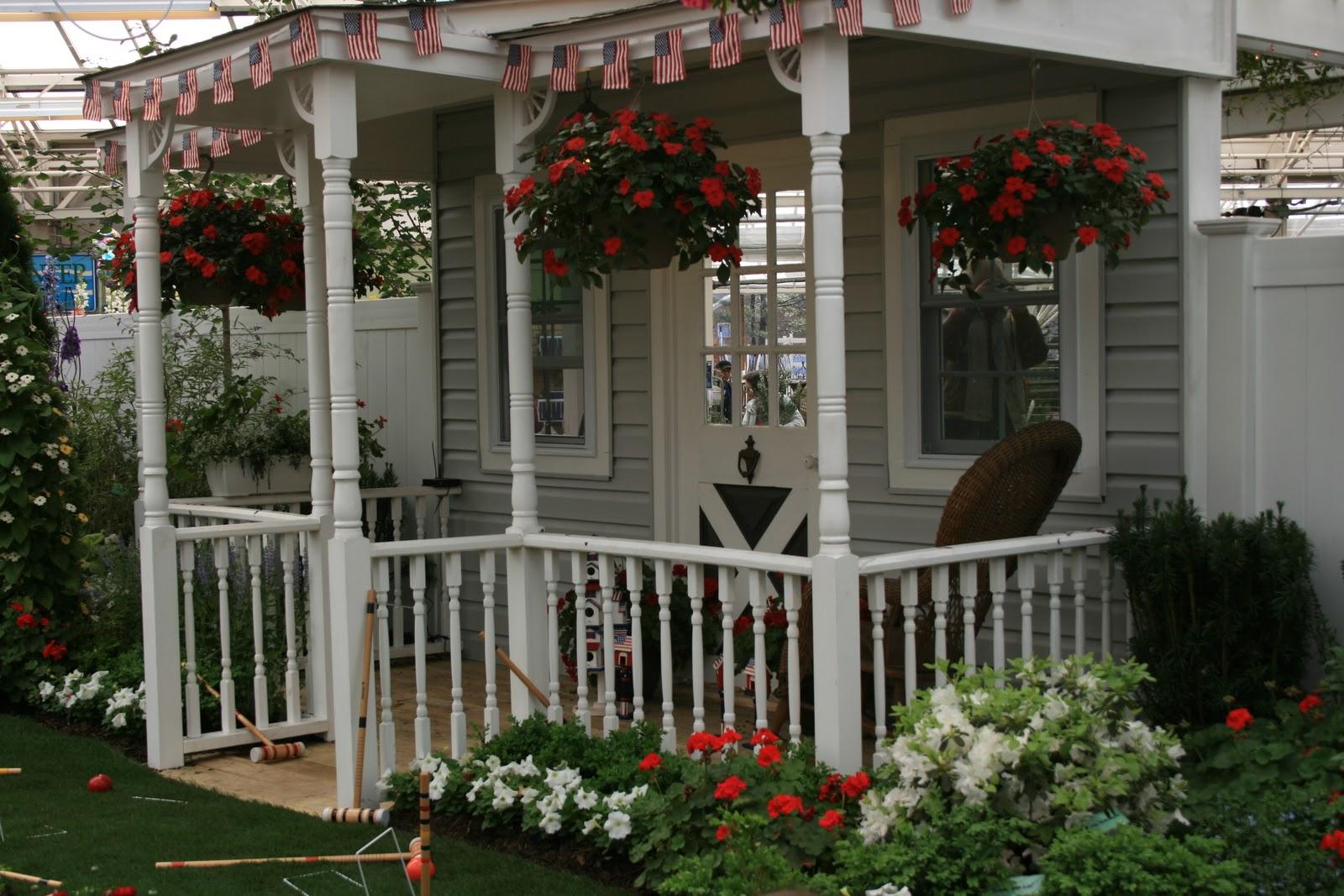 Careless gardener great landscape ideas the hicks garden for Front porch garden designs